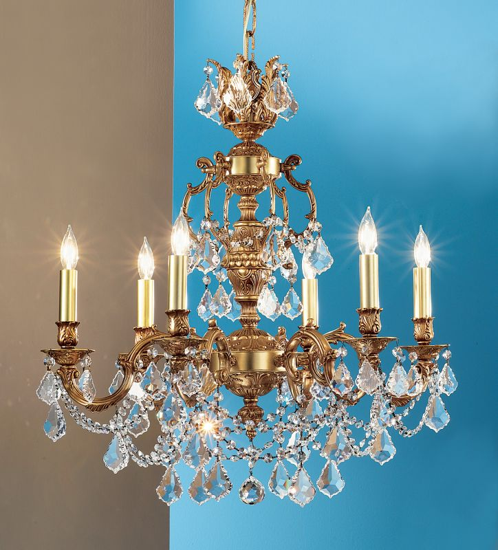 "Classic Lighting 57385-FG 18"" Crystal Chandelier from the Chateau"