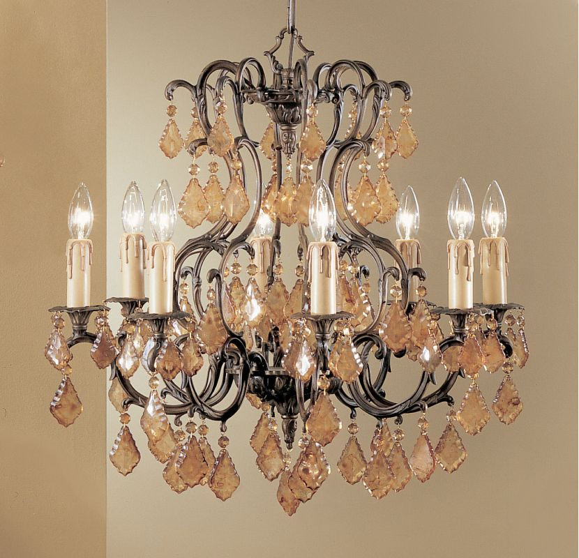 "Classic Lighting 5758-AGB 24"" Crystal Cast Brass Chandelier from the"