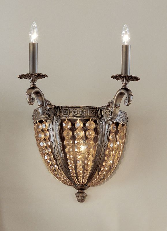 """Classic Lighting 5762-AGB 20"""" Crystal Cast Brass Wallchiere from the"""