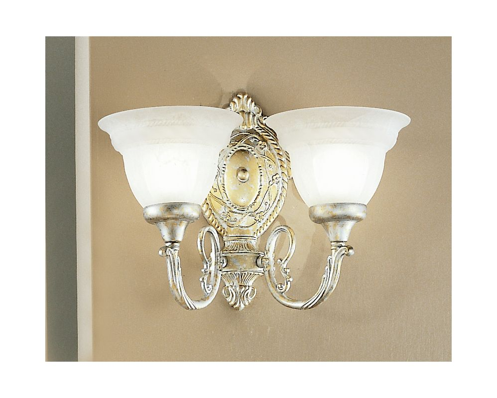 "Classic Lighting 68102 11"" Cast & Glass Sconces from the Yorkshire"