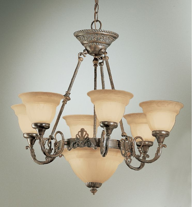 "Classic Lighting 68107 26"" Cast & Glass Chandelier from the Yorkshire"