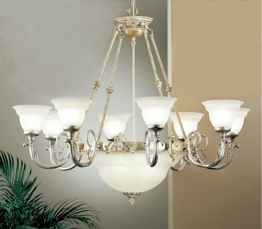 "Classic Lighting 68108 35"" Cast & Glass Chandelier from the Yorkshire"