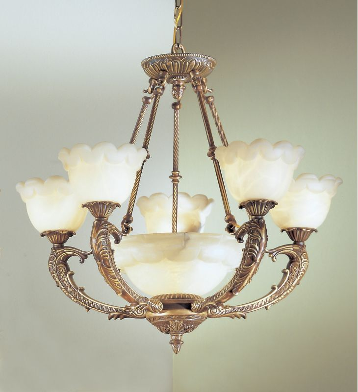"Classic Lighting 68805 25"" Alabaster Chandelier from the Victorian I"