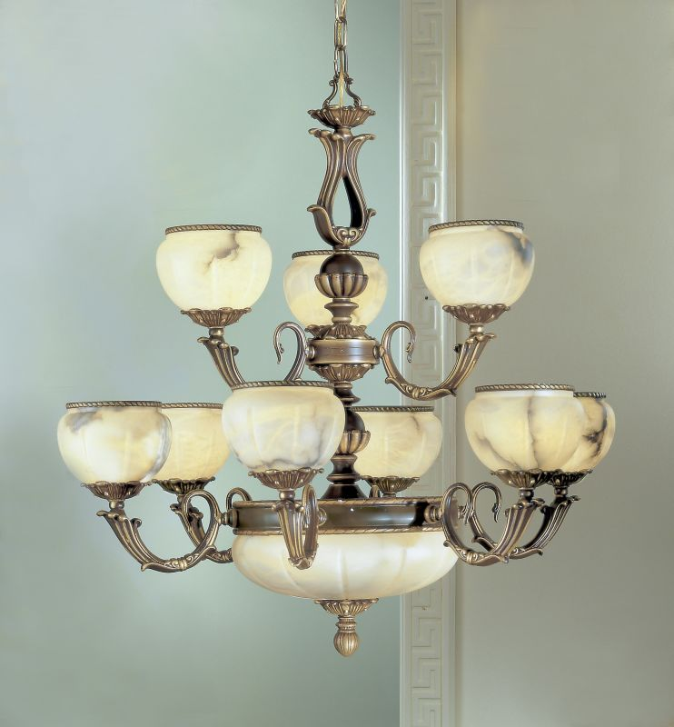 "Classic Lighting 69609 32"" Alabaster Chandelier from the Alexandria I"