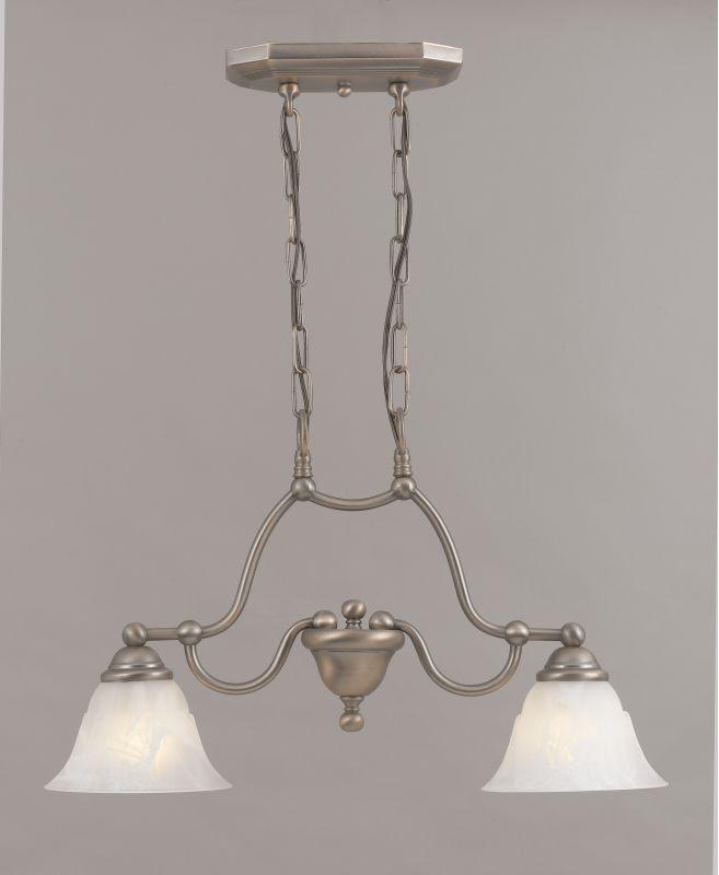 "Classic Lighting 69623 14"" Glass & Steel Island / Billiard from the"
