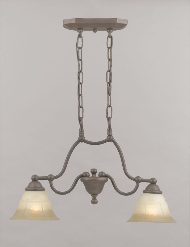 "Classic Lighting 69623 14"" Glass & Steel Island / Billiard from the"