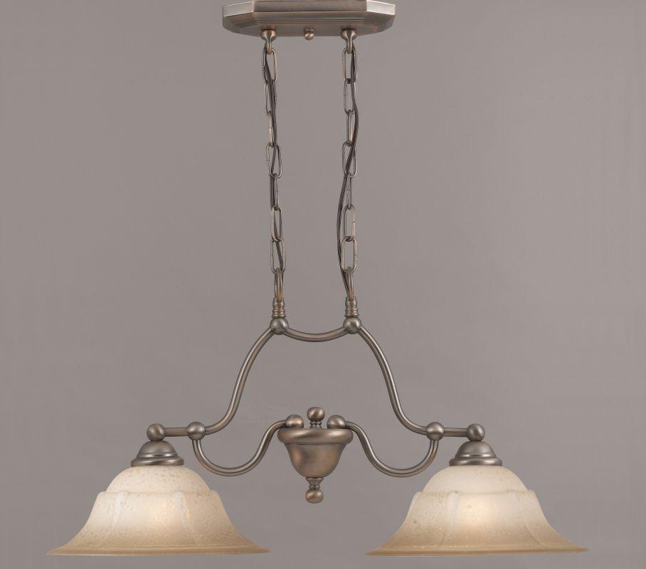 "Classic Lighting 69624 15"" Glass & Steel Island / Billiard from the"