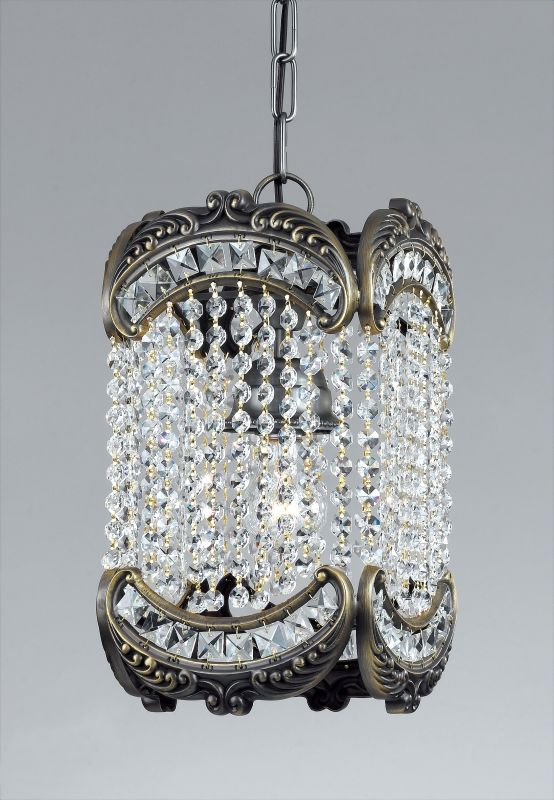 Classic Lighting 69761-RB Emily 1 Light Pendant with Crystal Accents