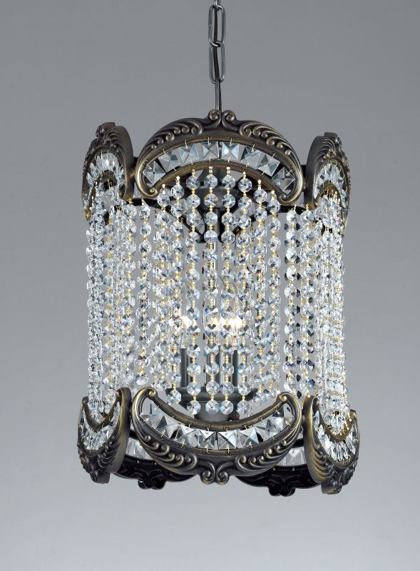 Classic Lighting 69764-RB Emily 3 Light Pendant with Crystal Accents