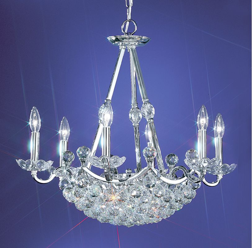 "Classic Lighting 69776-CH 24"" Crystal Chandelier from the Solitaire"