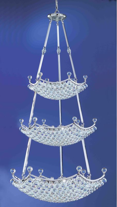 "Classic Lighting 69779-CH 72"" Crystal Chandelier from the Solitaire"
