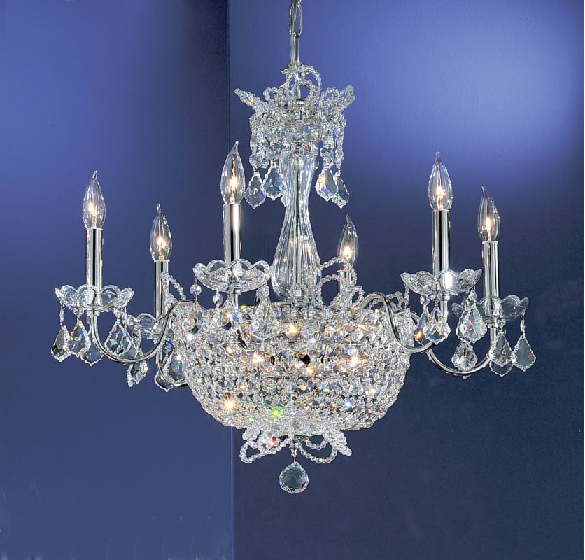 "Classic Lighting 69786-CH 22"" Crystal Chandelier from the Crown Jewels"