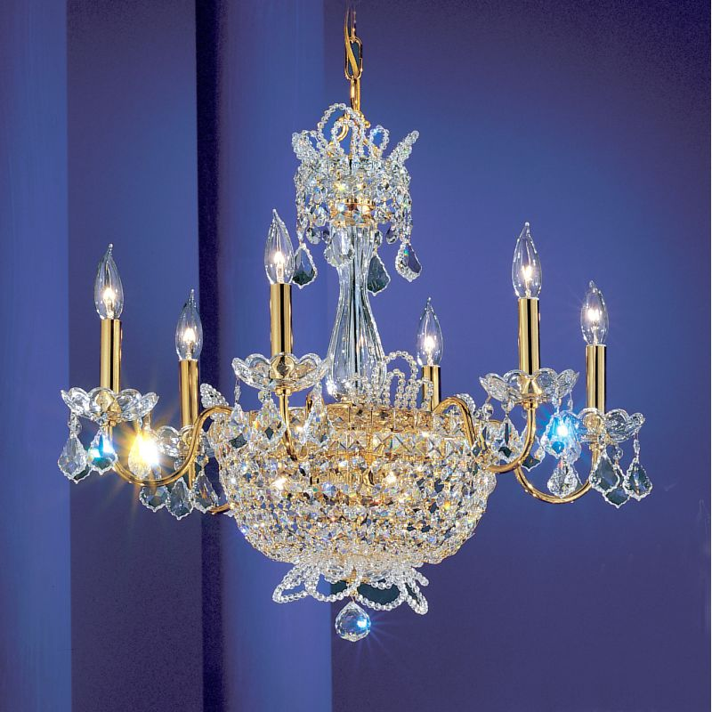 "Classic Lighting 69786-GP 22"" Crystal Chandelier from the Crown Jewels"