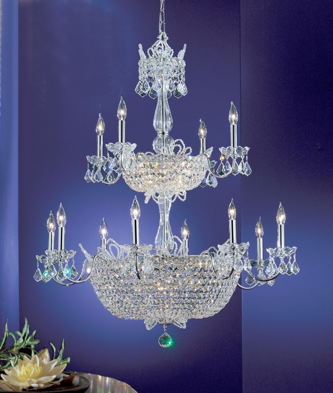 "Classic Lighting 69789-CH 43"" Crystal Chandelier from the Crown Jewels"