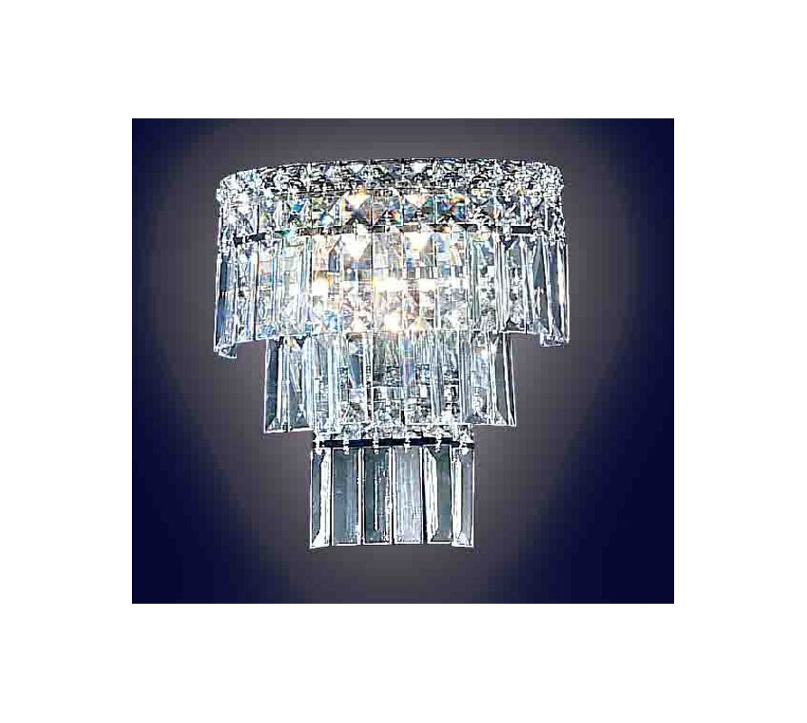 """Classic Lighting 69792-CH 5"""" Crystal Sconces from the Sofia Collection"""