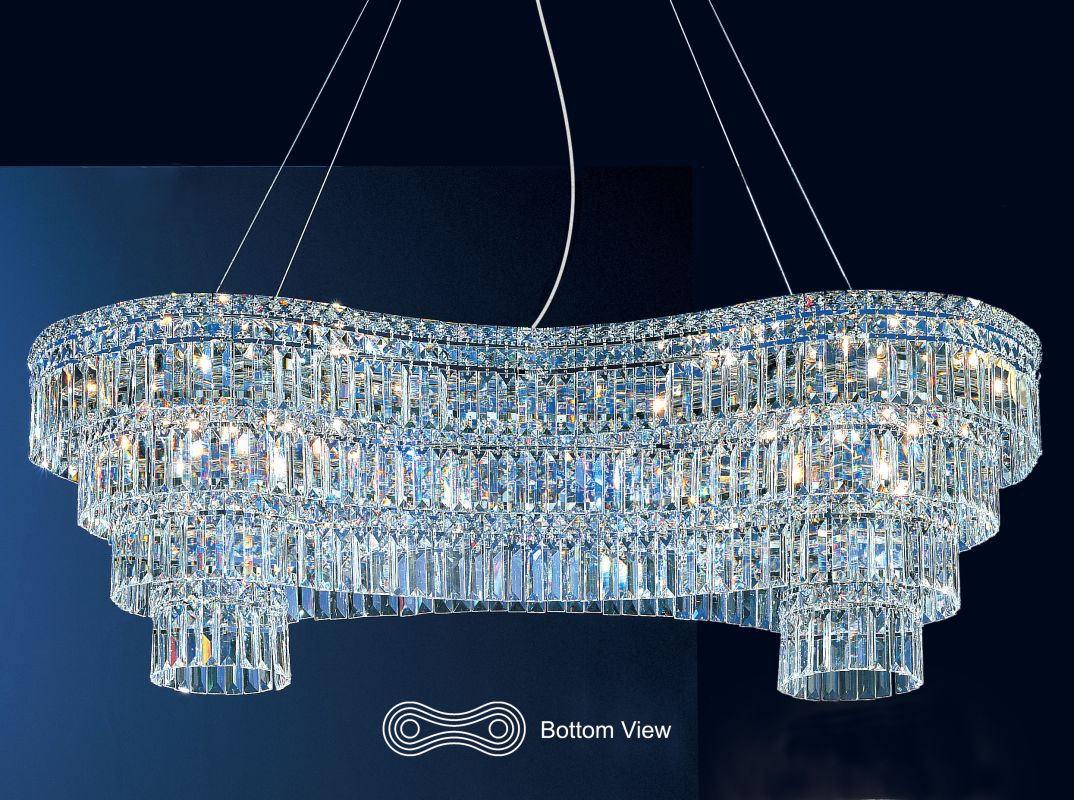"""Classic Lighting 69797-CH 16"""" Crystal Chandelier from the Sofia"""
