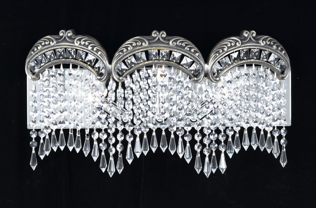 "Classic Lighting 69863-RB 11"" Crystal 3 Light Vanity from the Emily"
