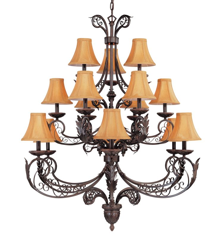 "Classic Lighting 71135 48"" Wrought Iron Chandelier from the French"