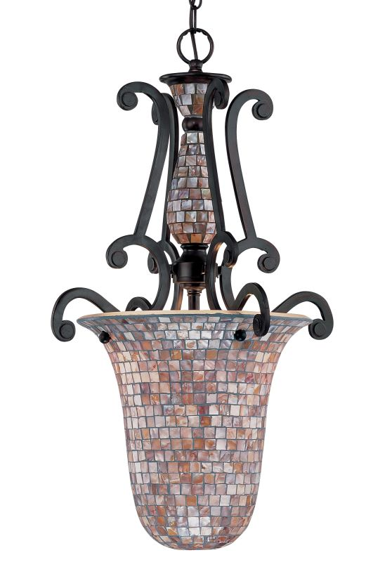 Classic Lighting 71144 Pearl River 2 Light Pendant with Mosaic Shade