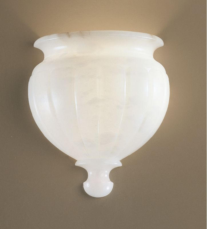 "Classic Lighting 7486 12"" Alabaster Wall Washers from the Navarra"