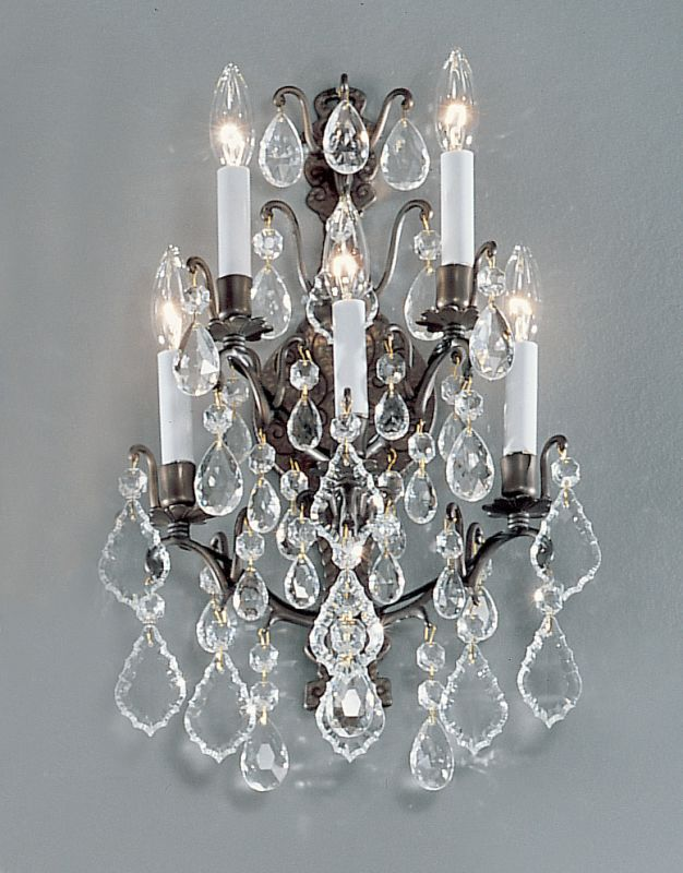 """Classic Lighting 8002 20"""" Crystal Cast Brass Wallchiere from the"""