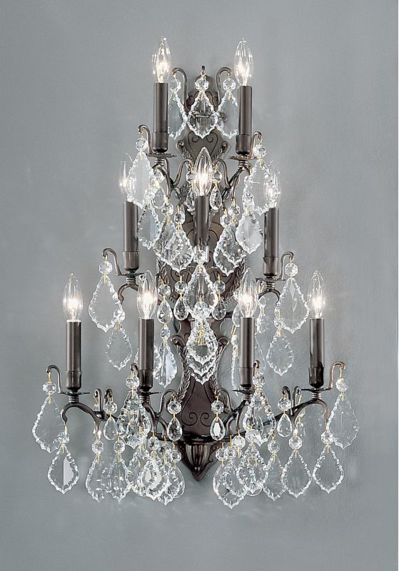 """Classic Lighting 8003 29"""" Crystal Cast Brass Wallchiere from the"""