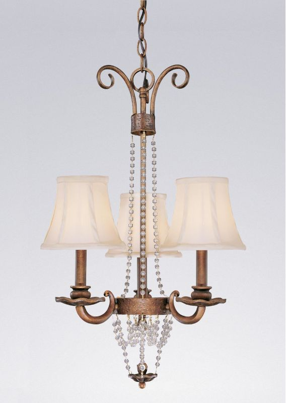 "Classic Lighting 81023 28"" Wrought Iron Mini-Chandelier from the Grace"