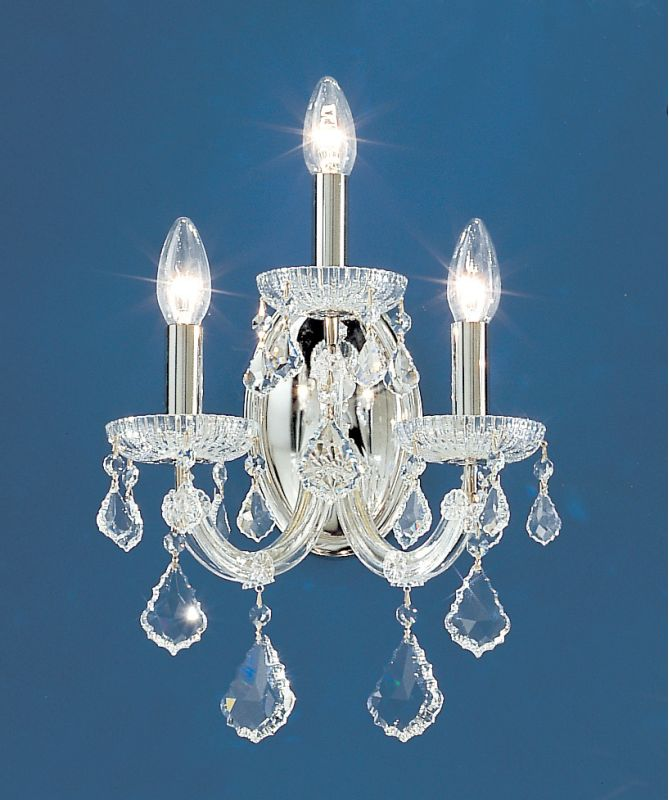 "Classic Lighting 8103-CH 15"" Crystal Traditional Wallchiere from the"