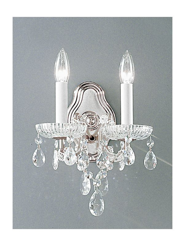 "Classic Lighting 8122-CH 10"" Crystal Traditional Wallchiere from the"