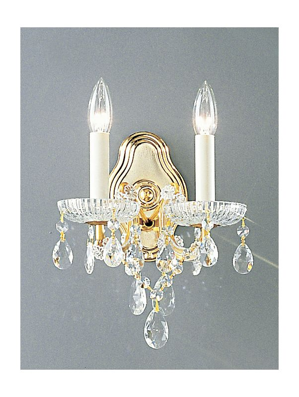 "Classic Lighting 8122-OWG 10"" Crystal Traditional Wallchiere from the"