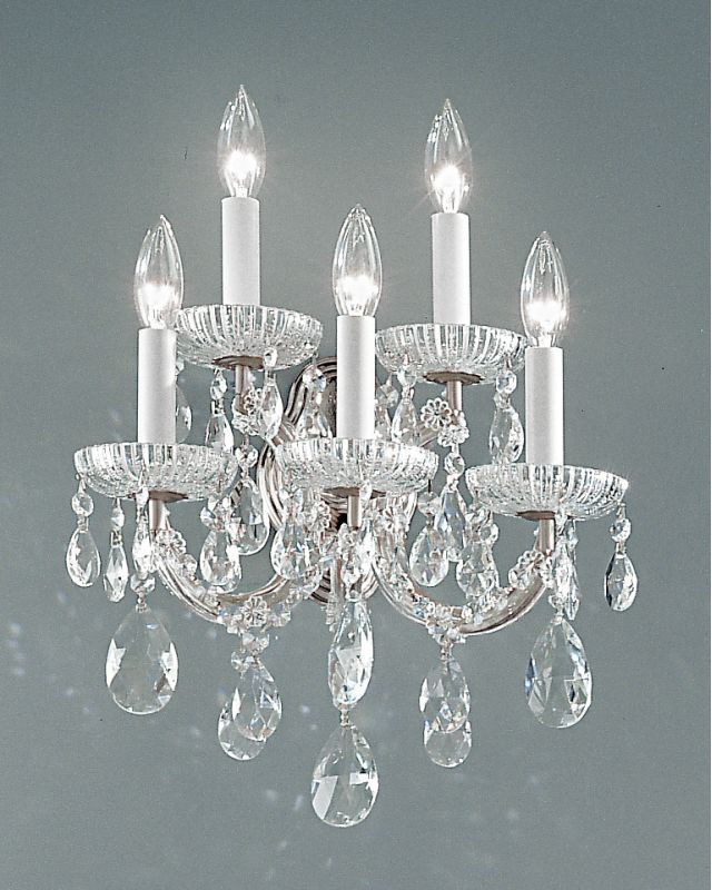 "Classic Lighting 8125-CH 15"" Crystal Traditional Wallchiere from the"