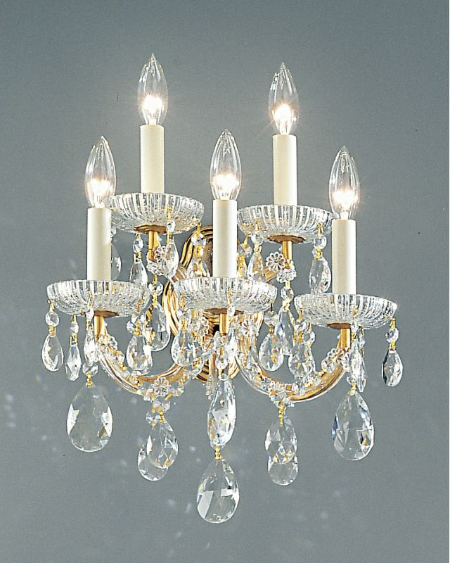 "Classic Lighting 8125-OWG 15"" Crystal Traditional Wallchiere from the"