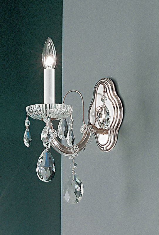 "Classic Lighting 8127-CH 11"" Crystal Traditional Wallchiere from the"