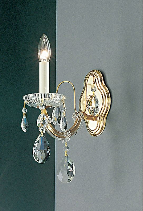 "Classic Lighting 8127-OWG 11"" Crystal Traditional Wallchiere from the"