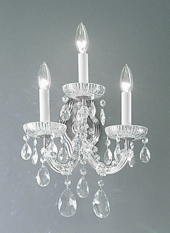 "Classic Lighting 8129-CH 15"" Crystal Traditional Wallchiere from the"