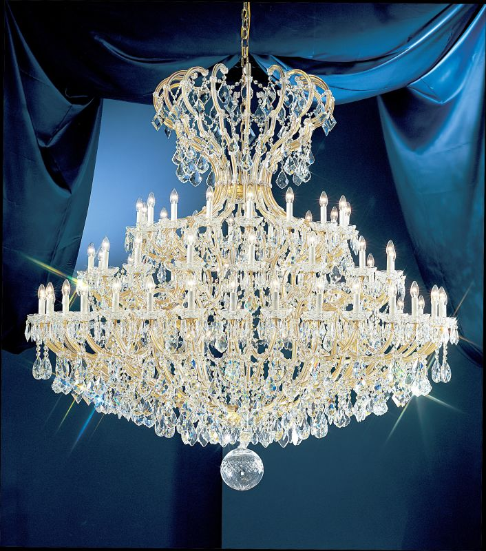 """Classic Lighting 8149-OWG 78"""" Crystal Traditional Chandelier from the"""