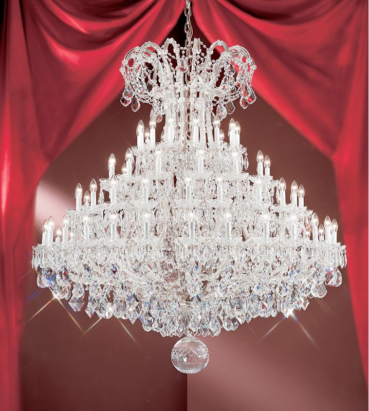 "Classic Lighting 8167-CH 68"" Crystal Traditional Chandelier from the"