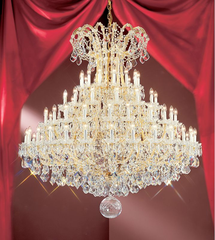 "Classic Lighting 8167-OWG 68"" Crystal Traditional Chandelier from the"