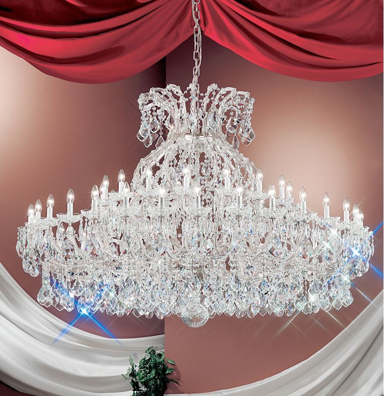"Classic Lighting 8168-CH 50"" Crystal Traditional Chandelier from the"
