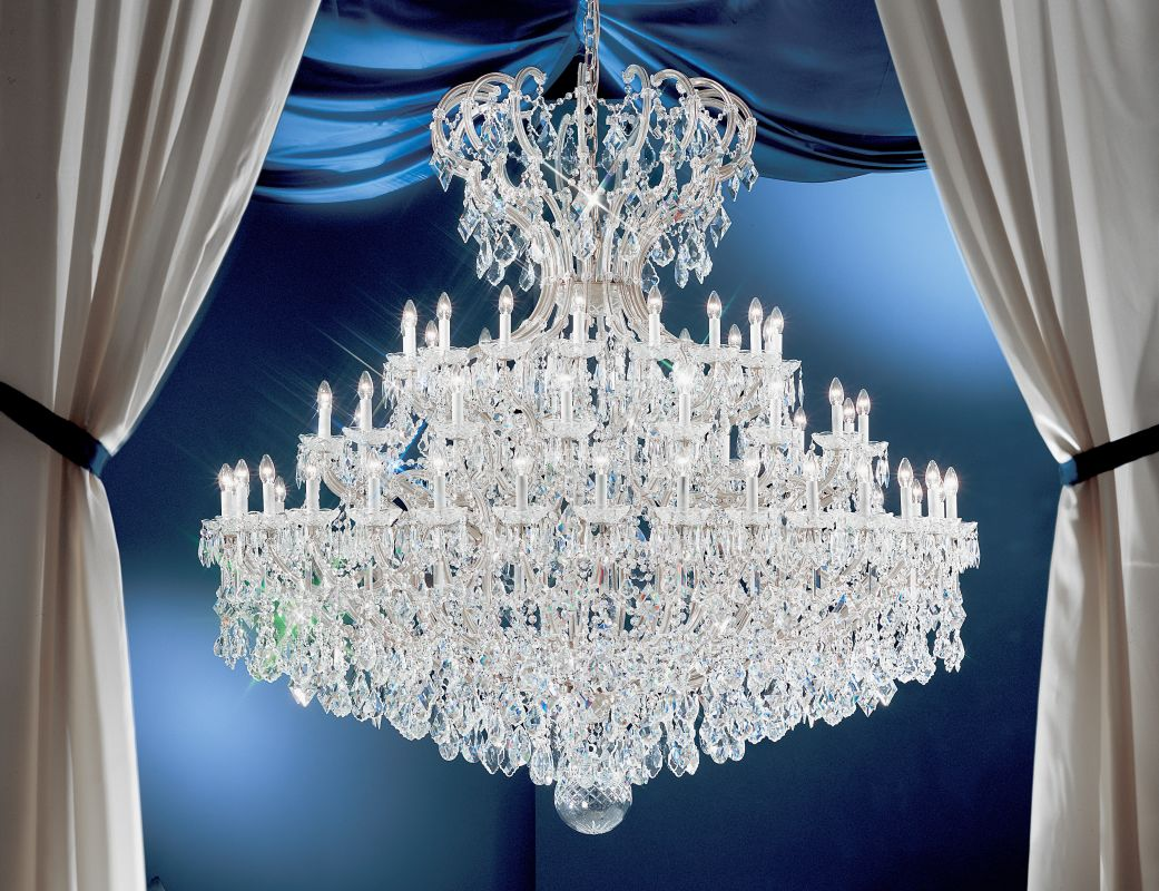 "Classic Lighting 8169-CH 78"" Crystal Traditional Chandelier from the"