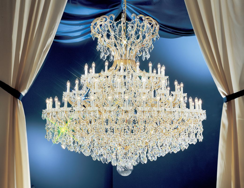 "Classic Lighting 8169-OWG 78"" Crystal Traditional Chandelier from the"