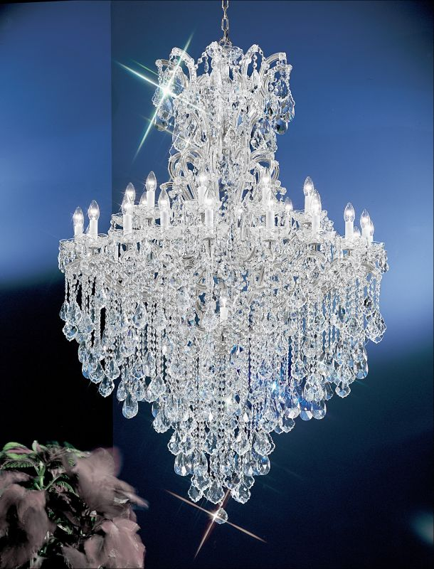 """Classic Lighting 8183-CH 66"""" Crystal Traditional Chandelier from the"""