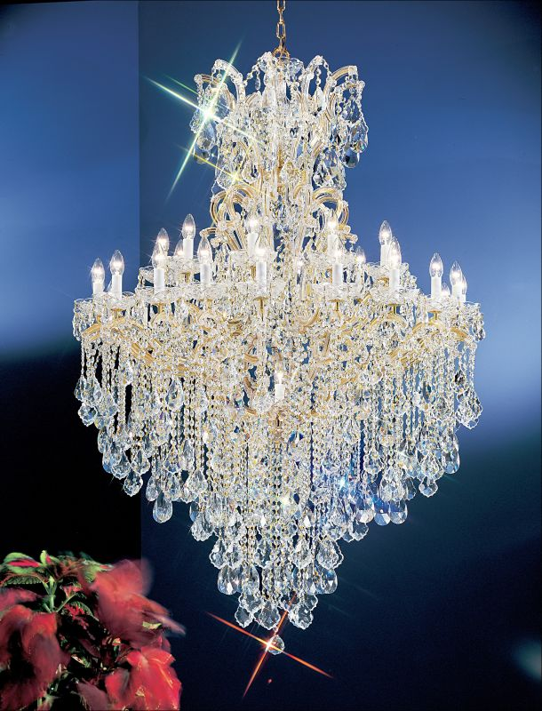 """Classic Lighting 8183-OWG 66"""" Crystal Traditional Chandelier from the"""