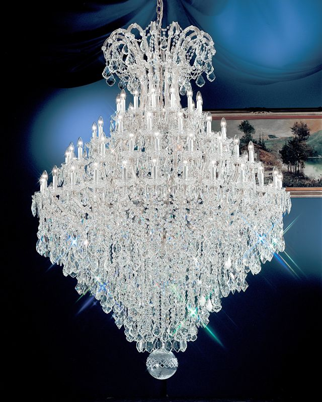 "Classic Lighting 8187-CH 88"" Crystal Traditional Chandelier from the"
