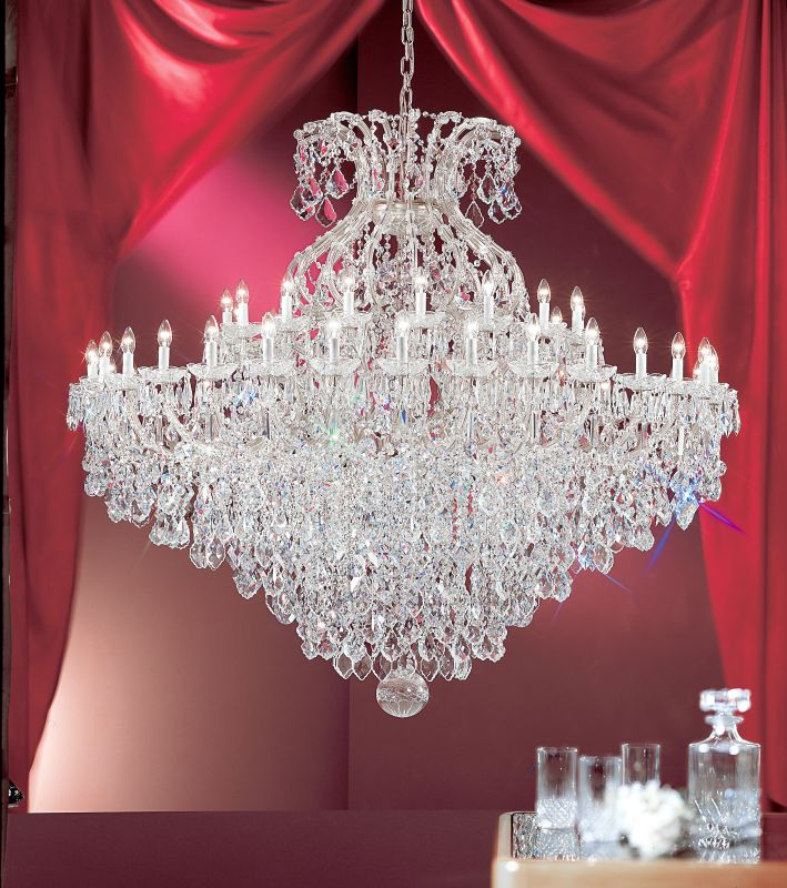 "Classic Lighting 8188-CH 74"" Crystal Traditional Chandelier from the"