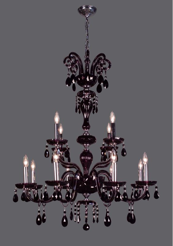 "Classic Lighting 82008- 42"" Crystal Chandelier from the Monte Carlo"