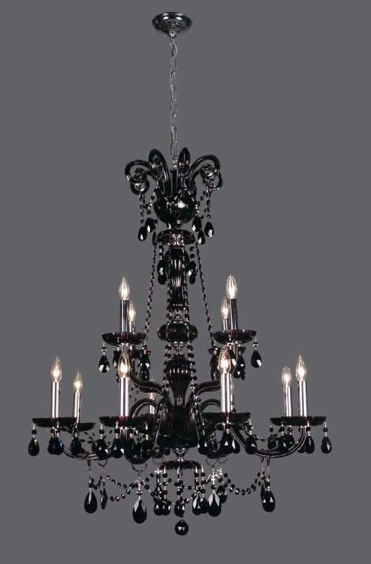 "Classic Lighting 82018- 42"" Crystal Chandelier from the Monte Carlo"