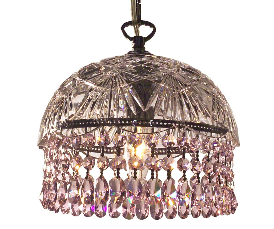 Classic Lighting 8220-CH Prague 1 Light Pendant with Crystal Accents