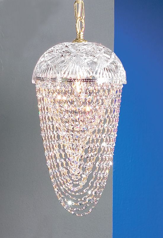 Classic Lighting 8223-G Prague 1 Light Pendant with Crystal Accents