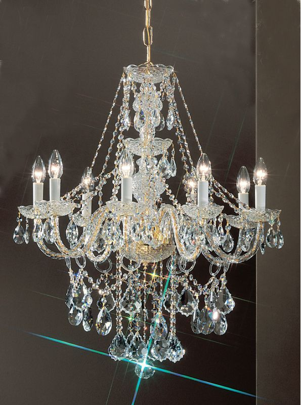 "Classic Lighting 8248-GP 30"" Crystal All Glass Chandelier from the Sale $950.40 ITEM: bci1303833 ID#:8248 GP C UPC: 729587329167 :"